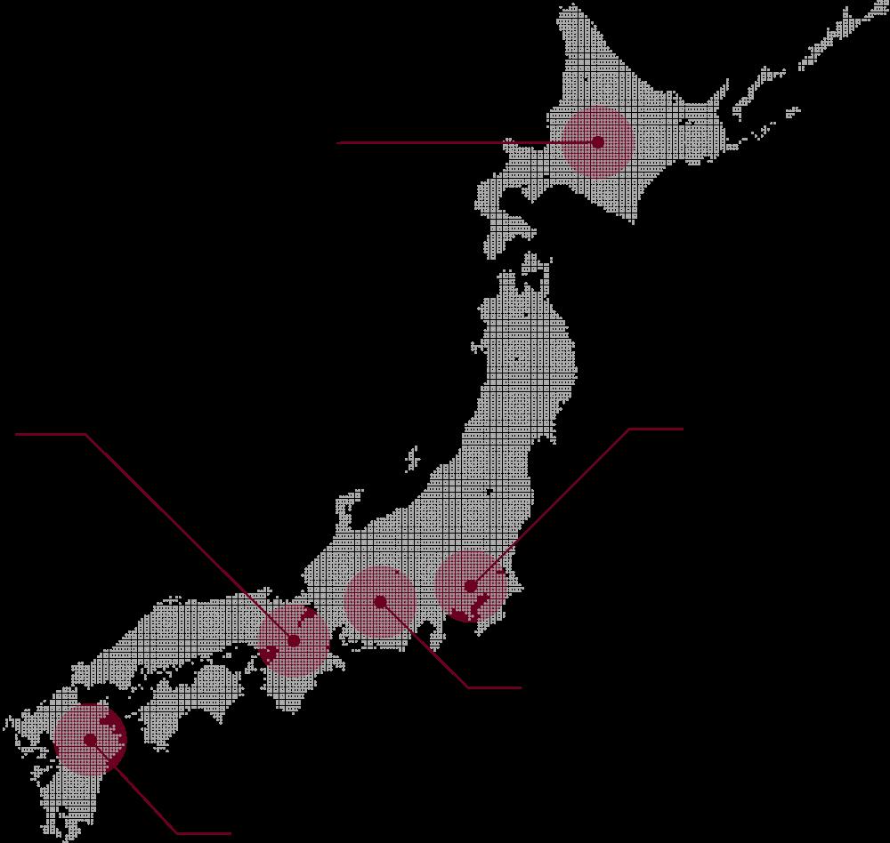 全国の店舗のマップイメージ