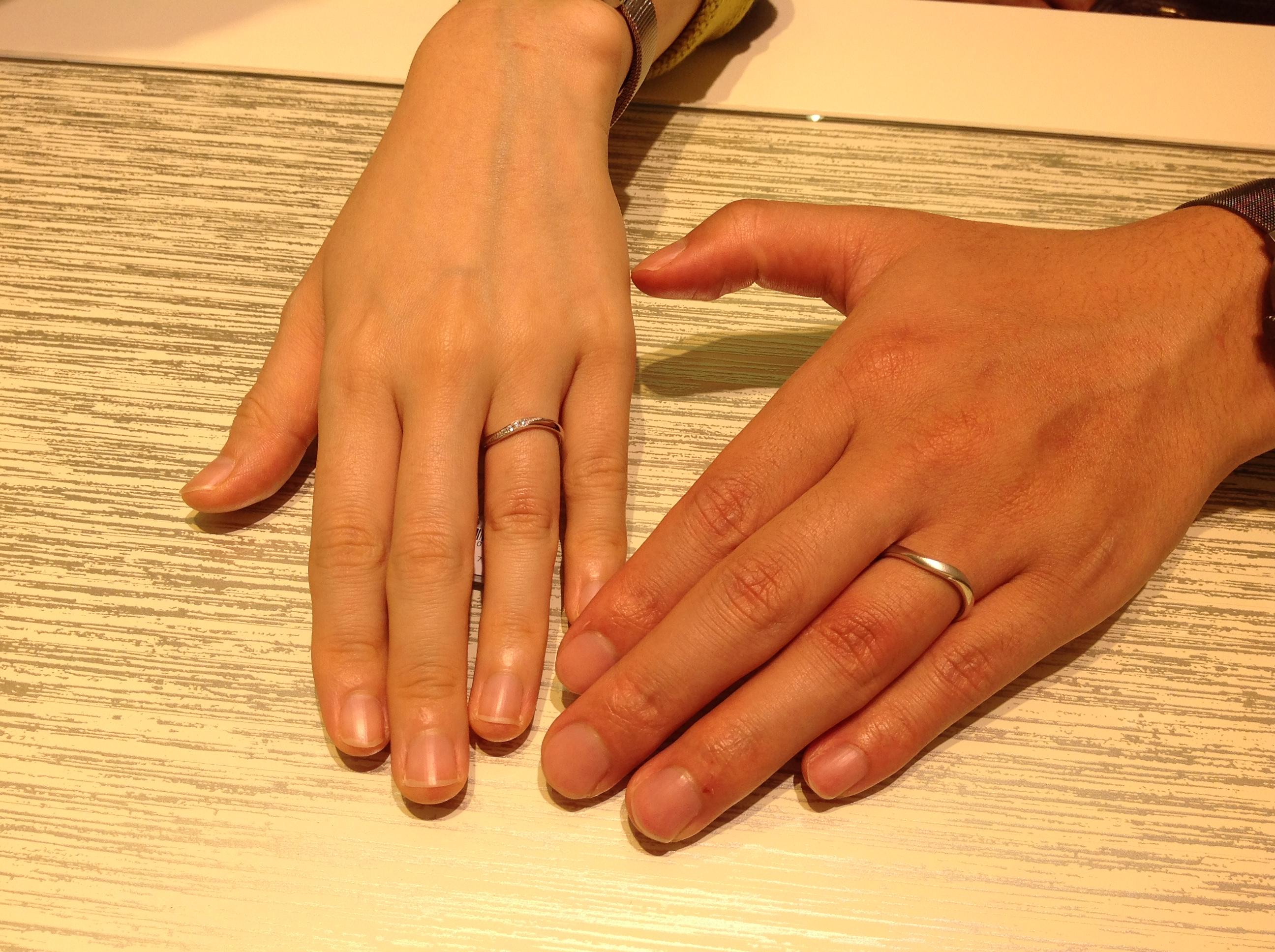 手のラインがキレイに見えました!のイメージ